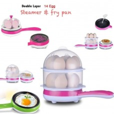 Two Layer Non-Stick Electric Egg Boiler and Frying Pan