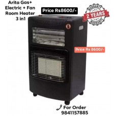 Arita Gas /Electric Fan Room Heater 3 in 1