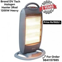 Brand DV Tech Halogen Heater 3Rod 1200Watt
