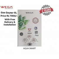 Wega Gas Geyser 6.ltr including with Fitting , Gas Pipe & Gas regulator etc.